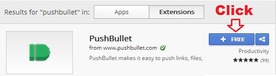 In PushBullet Chrome Extension