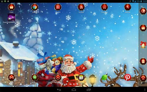 free christmas themes live wallpaper f r ihr android. Black Bedroom Furniture Sets. Home Design Ideas