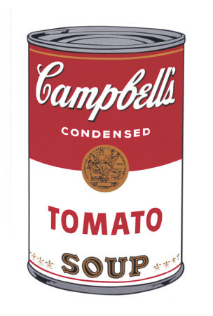 image of Warhol's Campbell's Soup can